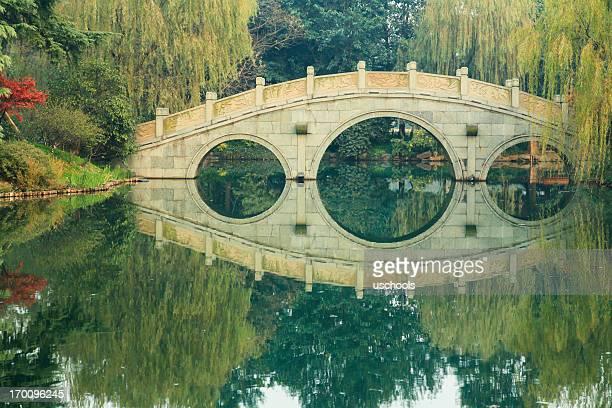 Traditionelles chinesisches Garten-Brücke