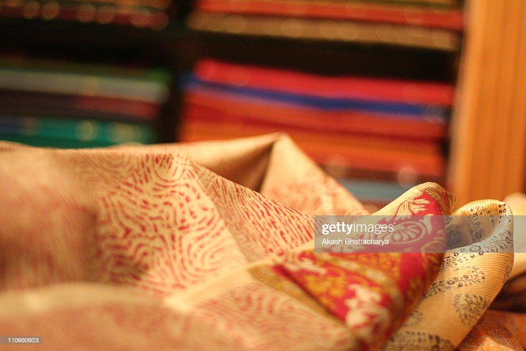 Tradition | Mysore Silk Saree : Stock Photo