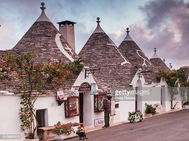 Tradition trulli houses in the historic centre of Alberobello