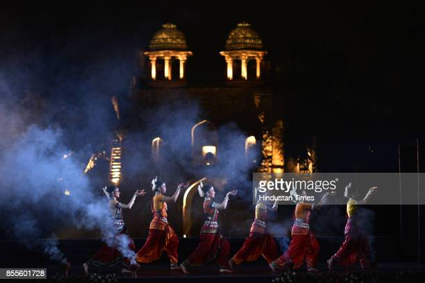 Traditional and contemporary Odisha dance form performance during the fiveday Purana Qila Dance Festival on September 28 2017 in New Delhi India