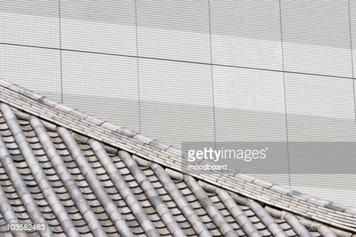 Traditional and Modern Architecture in Tokyo : Stock Photo