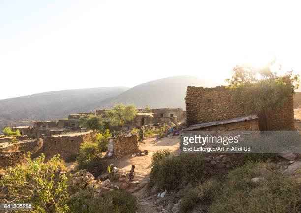 Traditional Argoba stone houses village Harari Region Koremi Ethiopia
