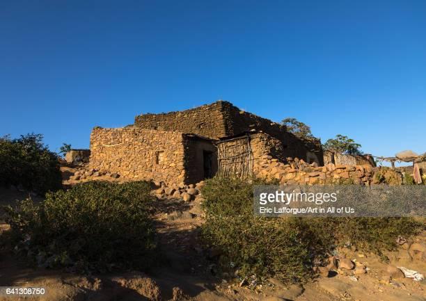 Traditional Argoba stone houses village Harari Region Koremi Ethiopia on January 11 2017 in Harari Region Koremi Ethiopia