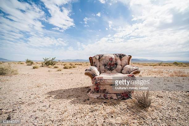 Traditional armchair in desert