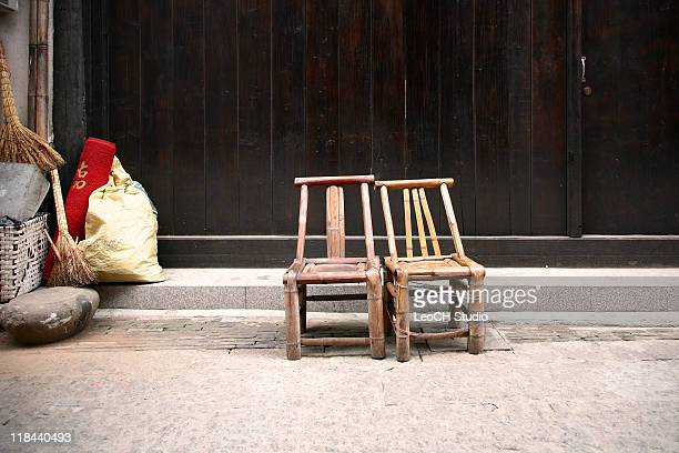 Traditional bamboo chairs