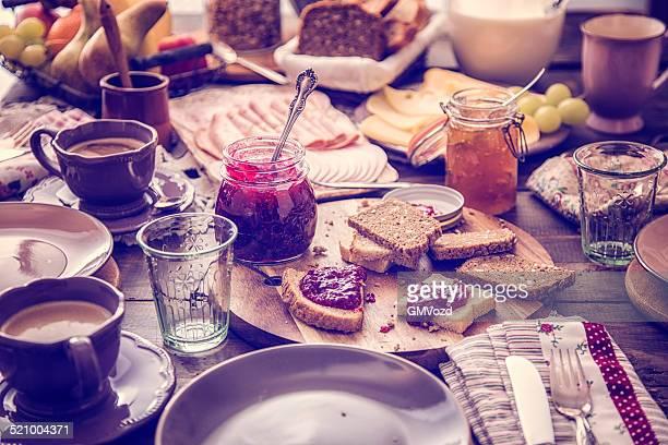 Traditional Belgium Breakfast