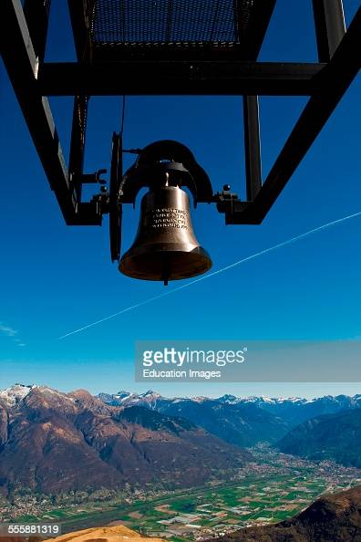 Traditional Bell Santa Maria Degli Angeli Church Mario Botta Alpe Foppa Monte Tamaro Canton Ticino Switzerland