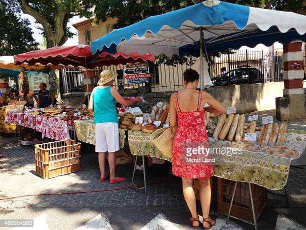 Traditional Breads for sale in a French Provencal country market