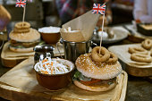 Traditional British Dishes on the table