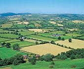 Traditional British landscape,Shropshire
