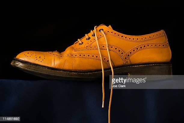 Traditional brogue on black background