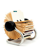 traditional rolodex rotary card file