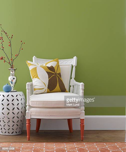 Traditional Chair with Painted Legs