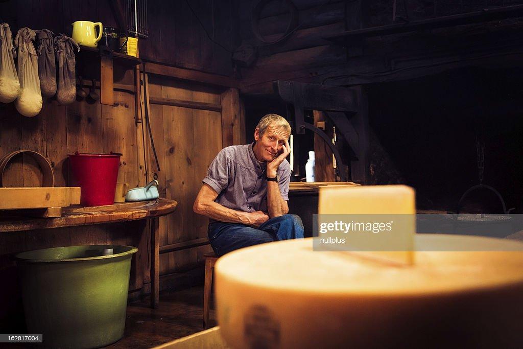 traditional cheesemaking : Stock Photo
