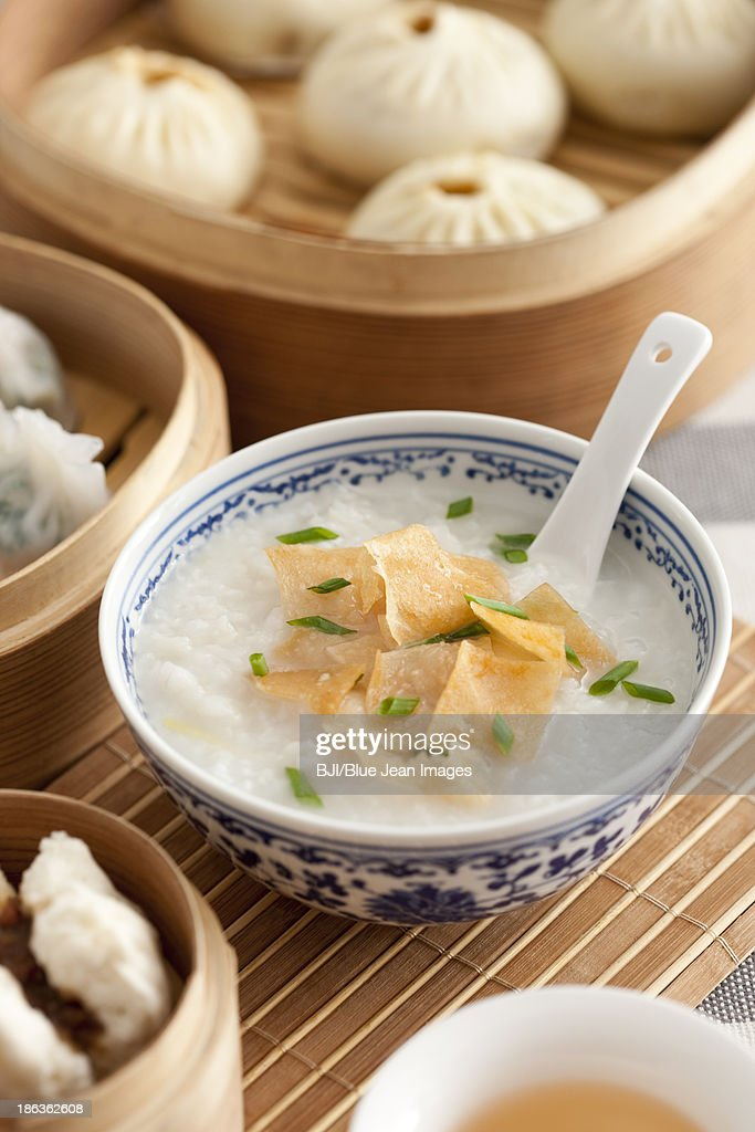 Traditional Chinese breakfast : Stock Photo