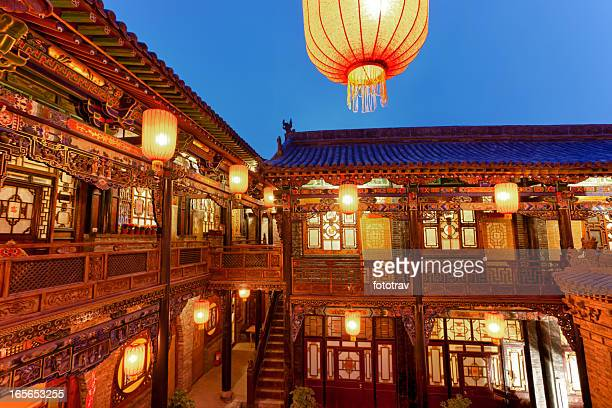 Traditional Chinese courtyard in Pingyao, China