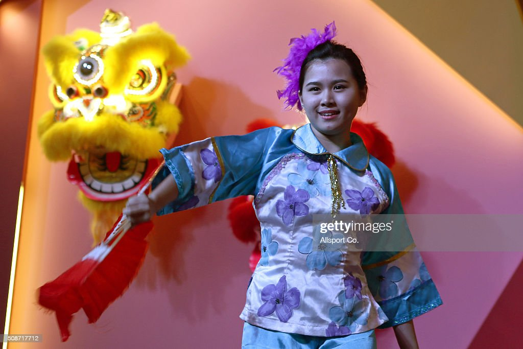 A Traditional Chinese dancer performs in a shopping mall ahead of Lunar New Year of the monkey celebrations on February 6, 2016 in Kuala Lumpur, Malaysia. According to the Chinese Calendar, the Lunar New Year which falls on February 8 this year marks the Year of the Monkey, the Chinese Lunar New Year also known as the Spring Festival is celebrated from the first day of the first month of the lunar year and ends with Lantern Festival on the Fifteenth day.