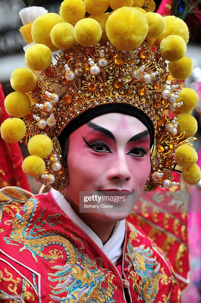 Traditional Chinese dancers in the New Year paraded on February 10, 2013 in London, England. London's Chinese community celebrate the start of the Year of The Snake with traditional dancing, music and fireworks.