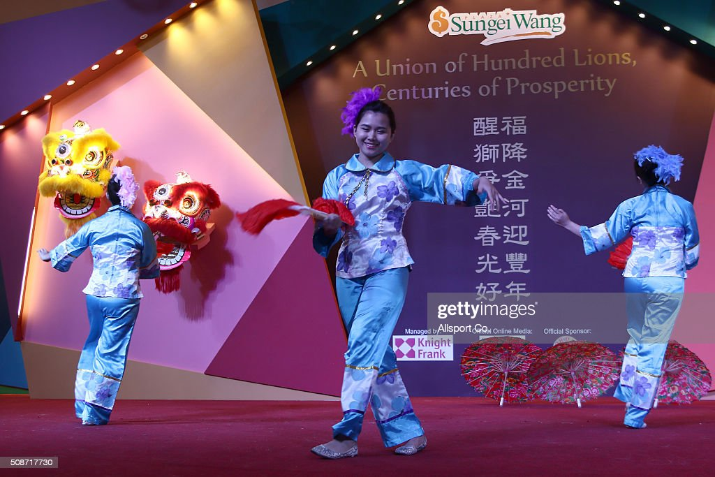 Traditional Chinese dancers perform in a shopping mall ahead of Lunar New Year of the monkey celebrations on February 6, 2016 in Kuala Lumpur, Malaysia. According to the Chinese Calendar, the Lunar New Year which falls on February 8 this year marks the Year of the Monkey, the Chinese Lunar New Year also known as the Spring Festival is celebrated from the first day of the first month of the lunar year and ends with Lantern Festival on the Fifteenth day.