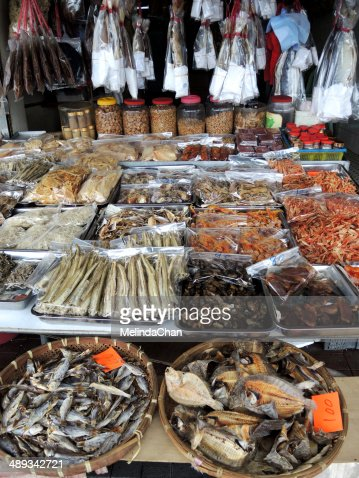 Traditional Chinese dried seafood store