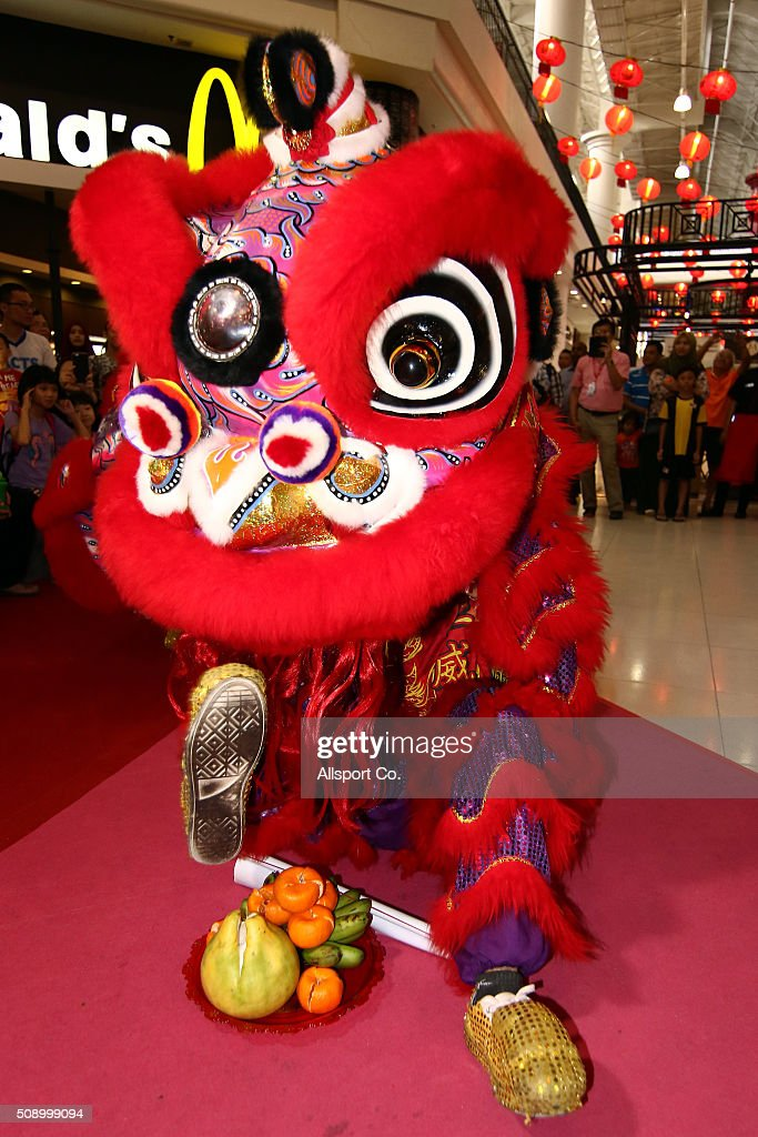 A Traditional Chinese Lion Dance performs at a shopping mall during the 1st day of the Lunar New Year of the monkey celebrations on February 8, 2016 in Kuala Lumpur, Malaysia. Chinese New Year is being celebrated around the world, marking the beginning of the year of the Monkey. The New Year, also known as the Spring Festival, is celebrated from the first day of the first month of the Chinese lunar calendar and ends with the traditional Lantern Festival on the Fifteenth day.