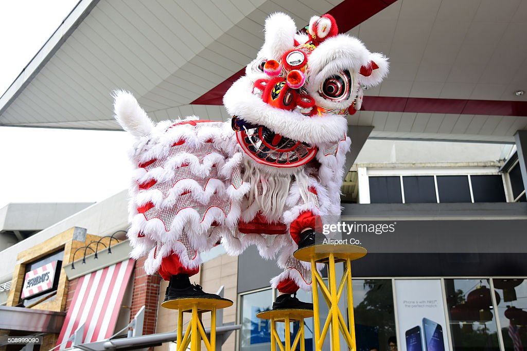 A Traditional Chinese Lion Dance performs outside a mall during the 1st day of the Lunar New Year of the monkey celebrations on February 8, 2016 in Kuala Lumpur, Malaysia. Chinese New Year is being celebrated around the world, marking the beginning of the year of the Monkey. The New Year, also known as the Spring Festival, is celebrated from the first day of the first month of the Chinese lunar calendar and ends with the traditional Lantern Festival on the Fifteenth day.