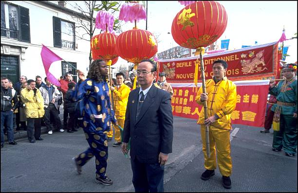 traditional chinese new year parade in paris france on january 27 2001 - Chinese New Year 2001
