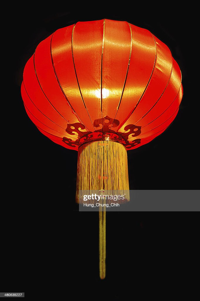 Traditional Chinese red lantern (good luck symbol) : Stock Photo