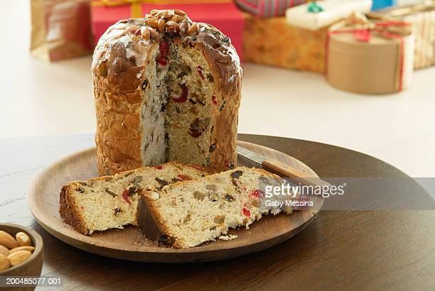 Traditional Christmas cake (panettone)