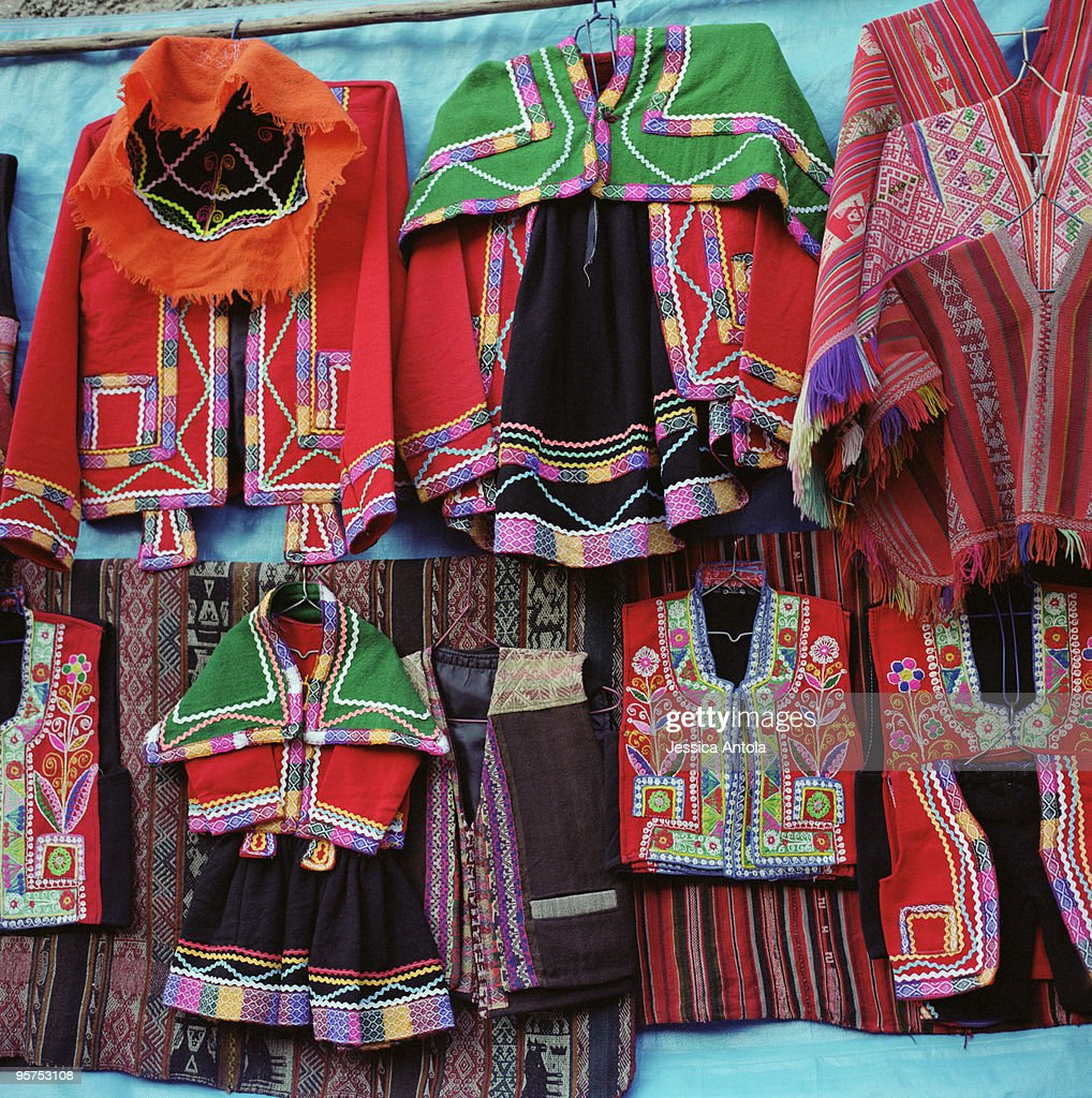 Traditional Clothing, Pisac Market, Pisac, Peru