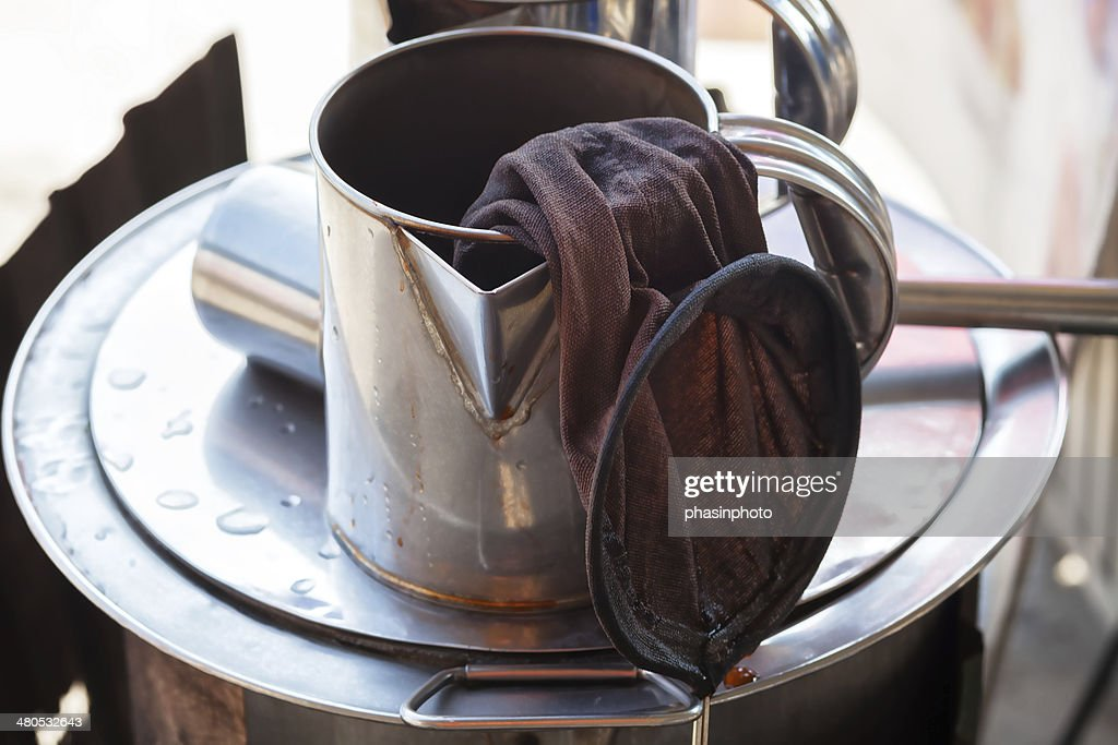 Traditional coffee brewing tools : Stock Photo