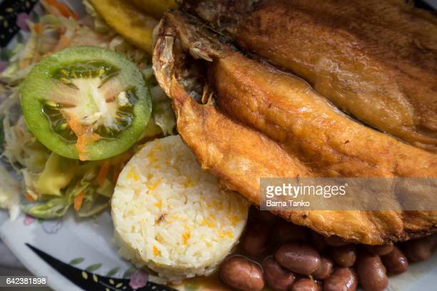 traditional Colombian fish platter