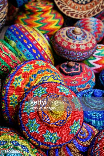 Traditional colorful baskets,Bali : Stock Photo