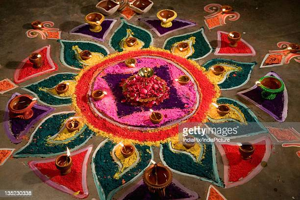Traditional colourful rangoli