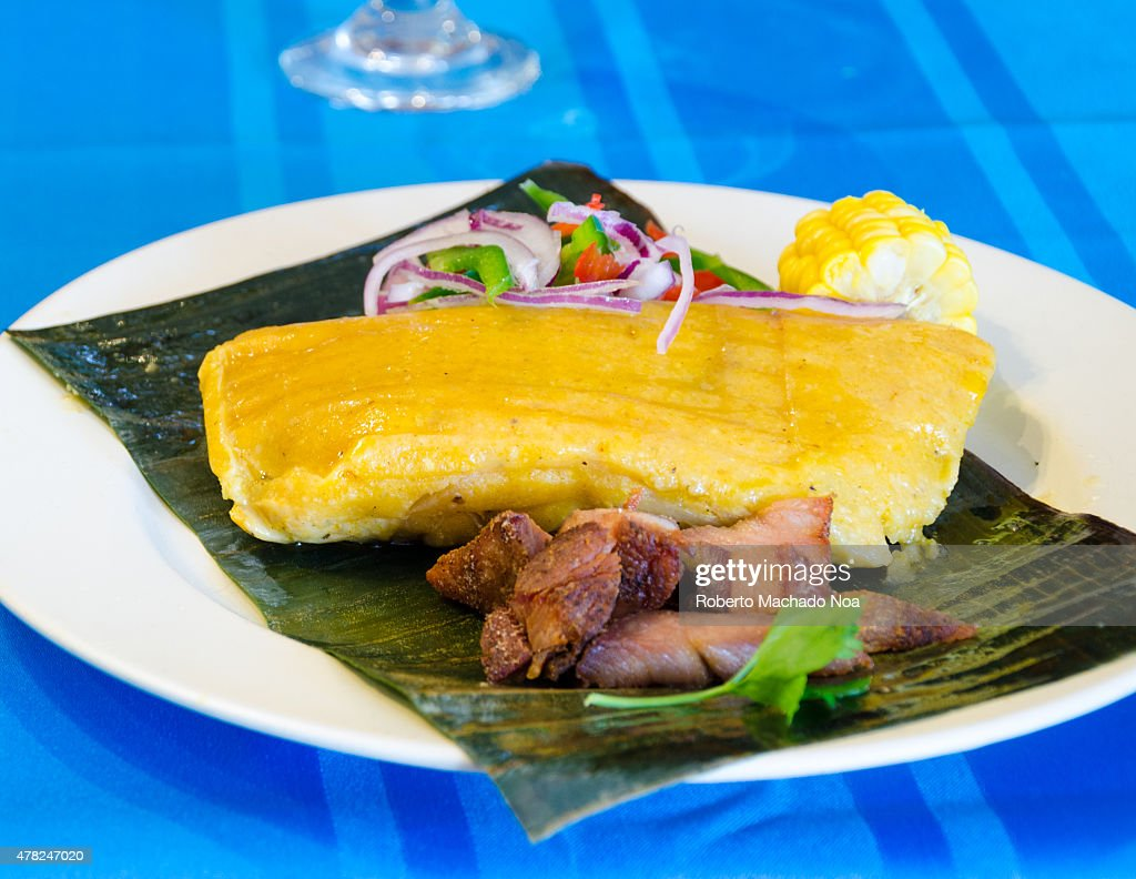 Traditional Cuban cuisine Tamal or Tamales a widely know Latin American corn dough meal