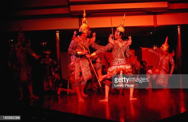 Traditional dance at Sala Rim Naam restaurant at Oriental Hotel, Bangrak.