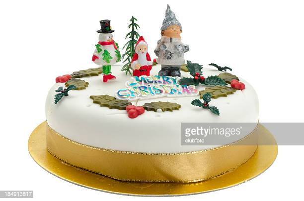 Traditional decorated Christmas cake