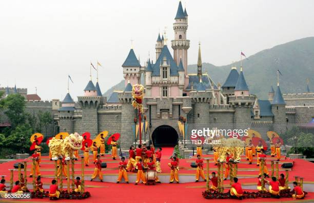 A traditional dragon is performed during the opening ceremony of Hong Kong Disneyland theme park 12 September 2005 Disney officially opened its...