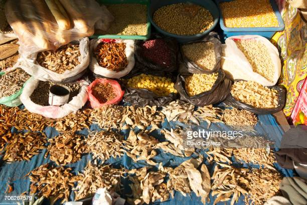 Traditional dried food stall