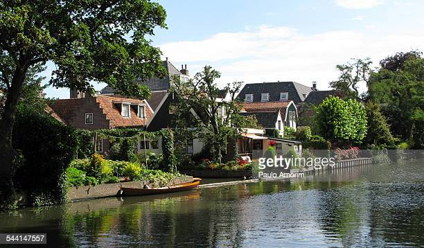 Traditional dutch houses at Village in Netherlands