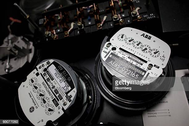 Traditional electric meters sit on a work table in a Southern California Edison meter service center where new 'smart' meters are being tested in...