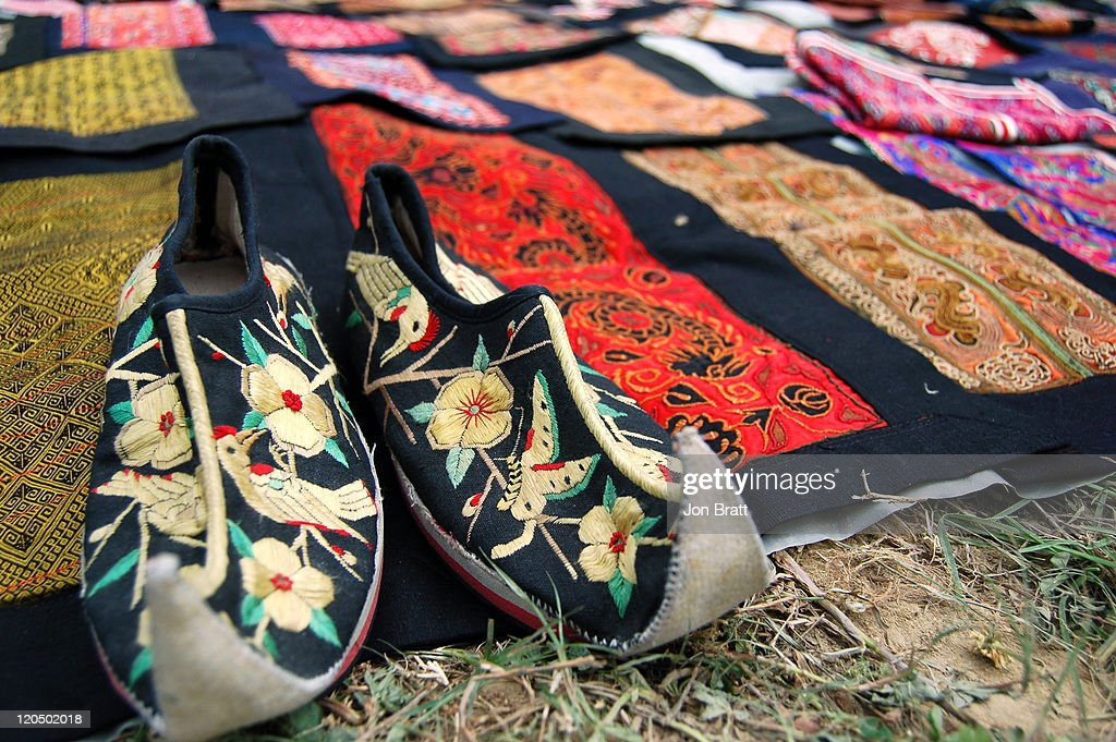 Traditional embroidery at Miao Festival