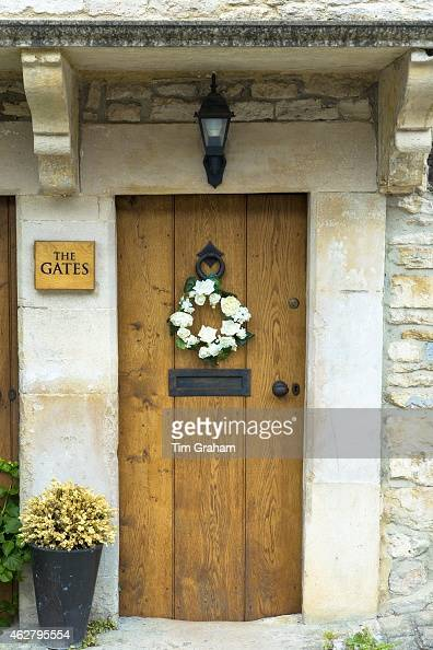 Cottage Door In Castle Combe In The Cotswolds UK Pictures Getty Images