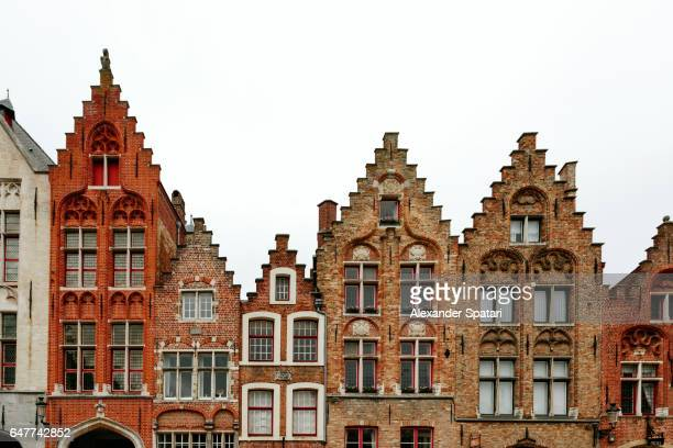 Traditional Flemish architecture in Bruges, Flanders, Belgium