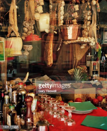 Traditional food shop window display : Photo