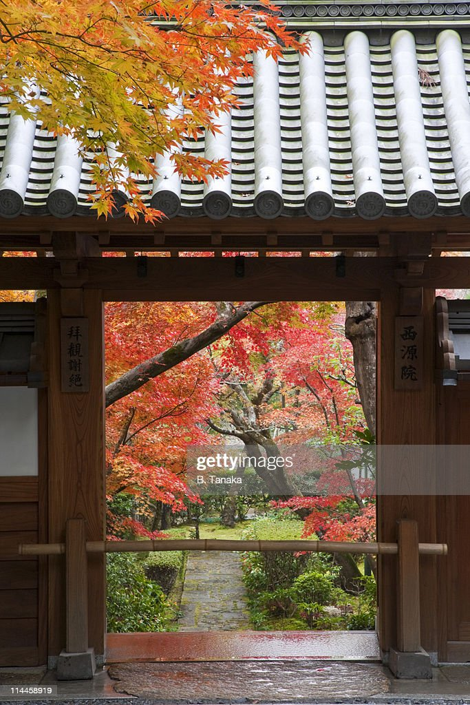 Traditional Garden Gate at Kyoto's Ryoanji Temple : Stock Photo