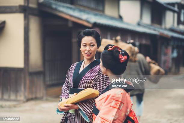 Traditional geishas in Japan