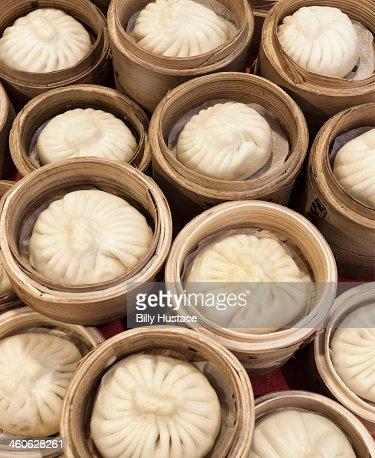 Traditional Goubili buns in Tianjin, China