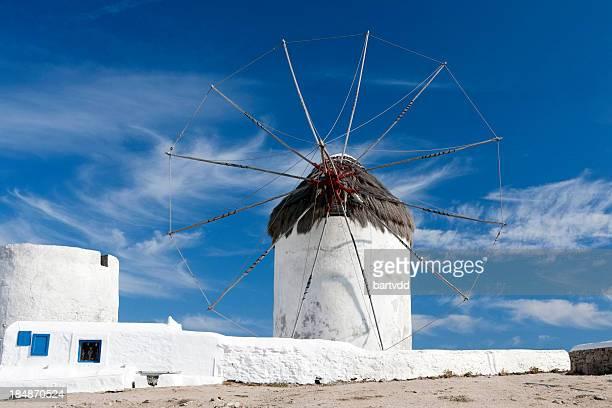 Traditional Greek Windmill on Mykonos, Greece