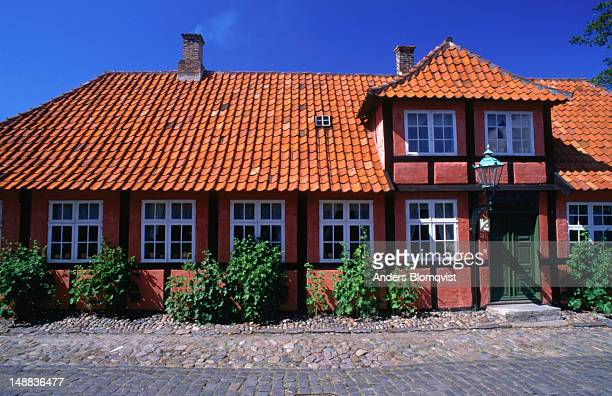 Traditional half-timbered houses of Ronne.